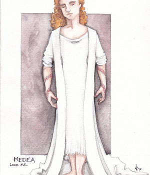 Medea with Robe Rendering